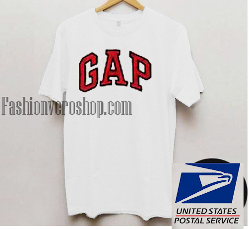 Gap white unisex adult t shirt for Gap usa t shirt