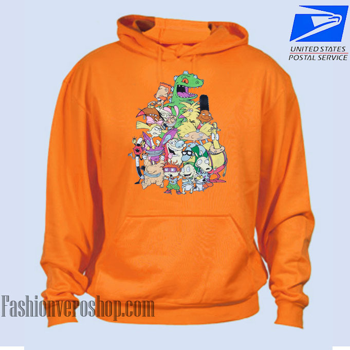 Nickelodeon Old School Group HOODIE - Unisex Adult Clothing