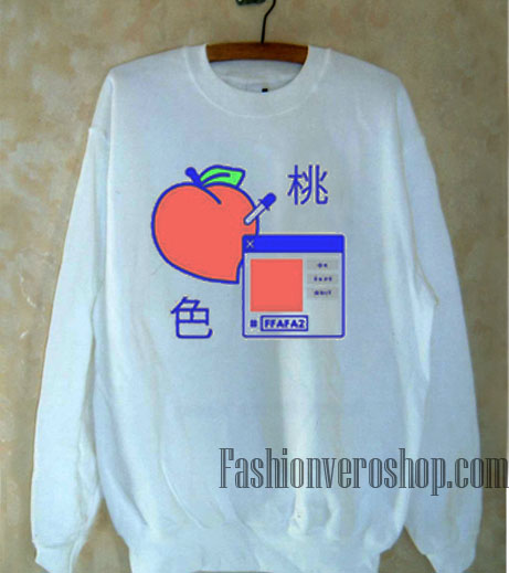 Peach Ok Save Quit Japanese Sweatshirt