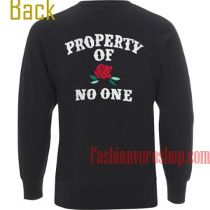 Property of No One Flower Sweatshirt