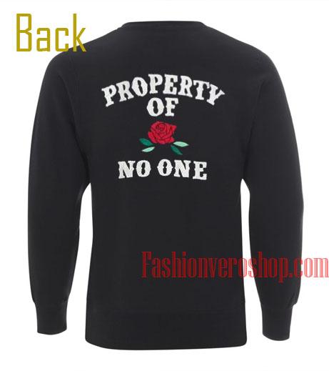 Property of No One Flower Sweatshirt