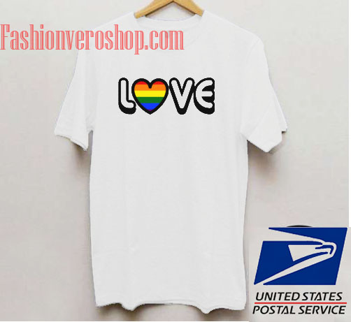 Rainbow Heart Unisex adult T shirt