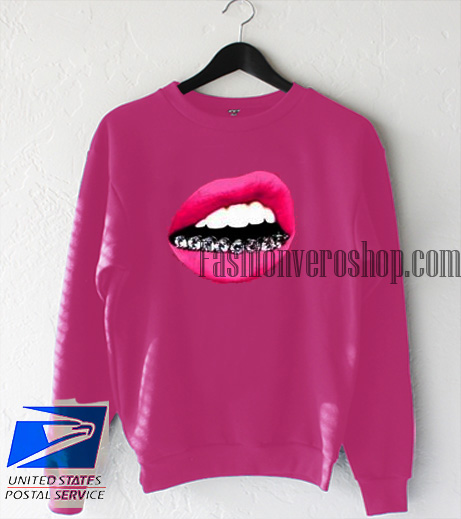 Red Lip Women Sweatshirt
