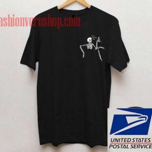 Skeleton Pocket Unisex adult T shirt