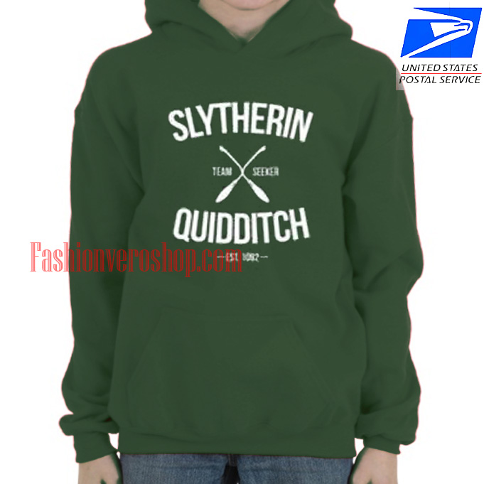 Slytherin Quidditch Team Seeker HOODIE - Unisex Adult Clothing