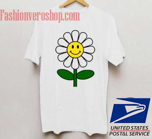 Smile Face Flower Unisex adult T shirt