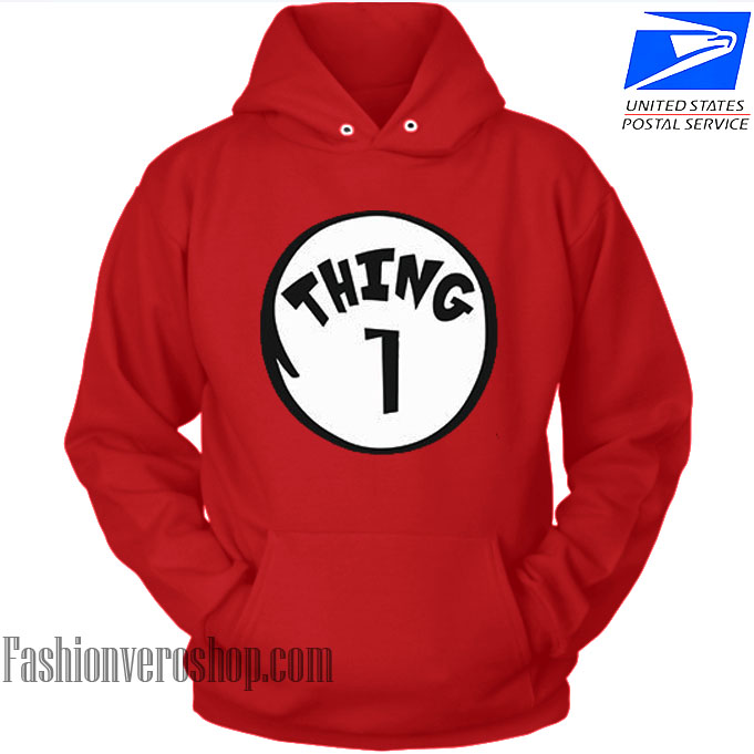 Thing 1 Couple HOODIE - Unisex Adult Clothing