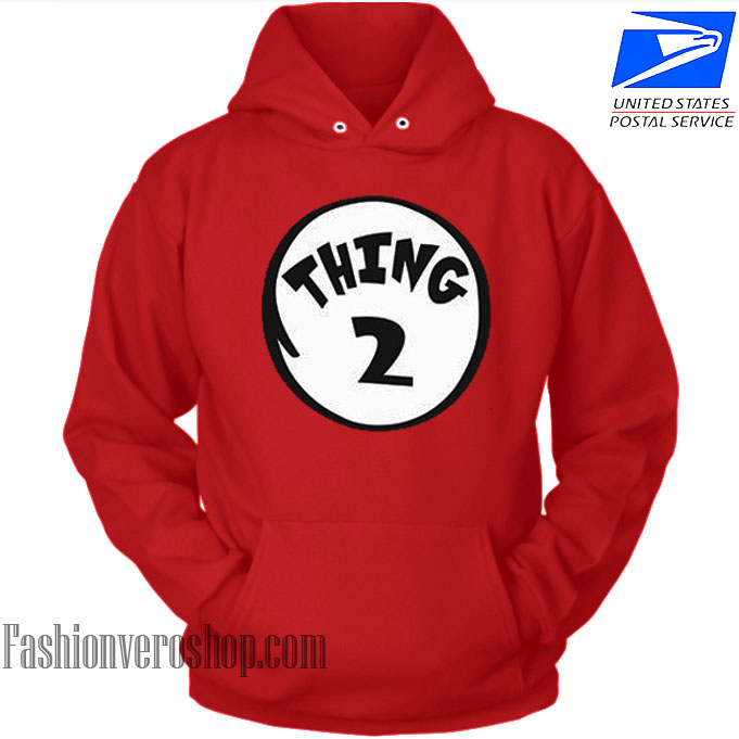 Thing 2 Couple HOODIE - Unisex Adult Clothing