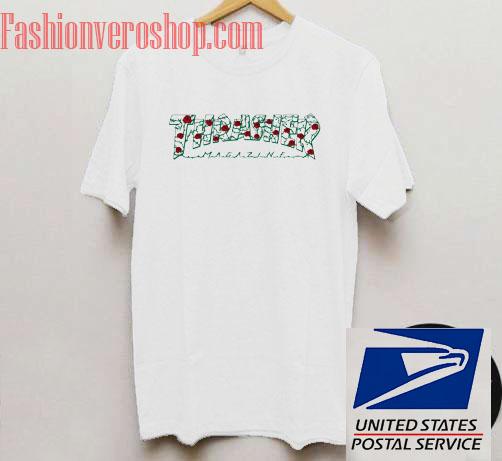13a3613b8935 Thrasher Roses Unisex adult T shirt