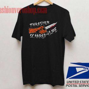 Thrasher Scarred 4 Life Skate Unisex adult T shirt
