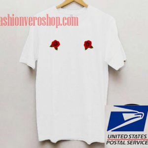 Twin Rose White Unisex adult T shirt