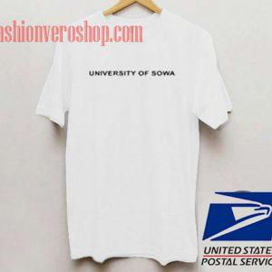 University Of Sowa Unisex adult T shirt