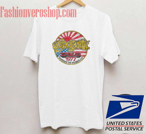 f16c53bb08e Aerosmith Boston to Budokan 1977 Unisex adult T shirt