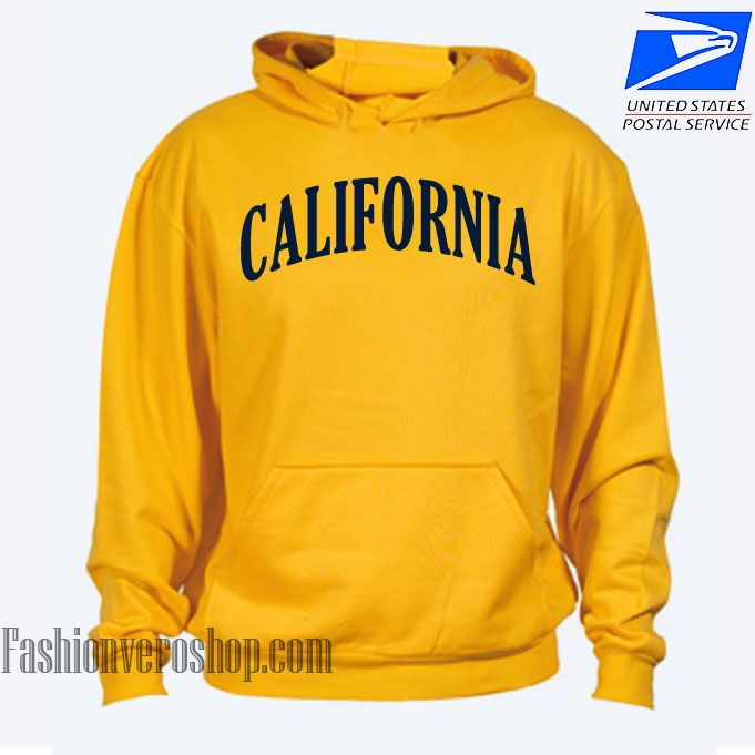 California Yellow Mustard HOODIE Unisex Adult Clothing