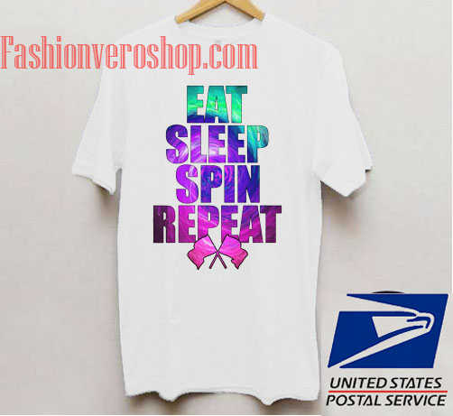 Eat Sleep Spin Repeat Unisex adult T shirt