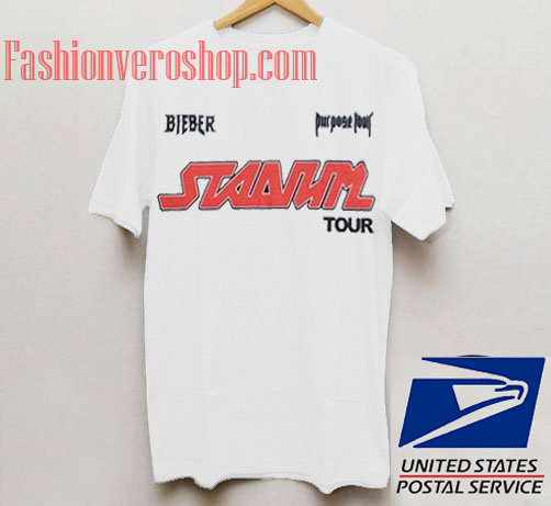 Justin Bieber Stadium Tour Unisex adult T shirt