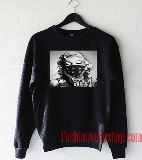 Marilyn Monroe Black Bandana Sweatshirt