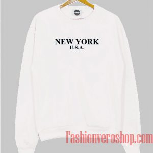 New York USA Black Logo Sweatshirt