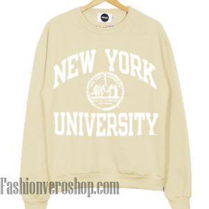 New York University Cream Color Sweatshirt
