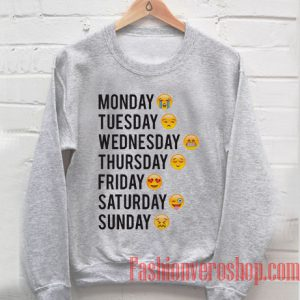 One Week Emoji Sweatshirt