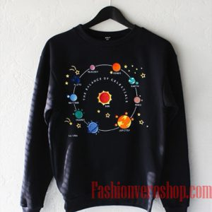 Planets Solar Saturn Space Sweatshirt