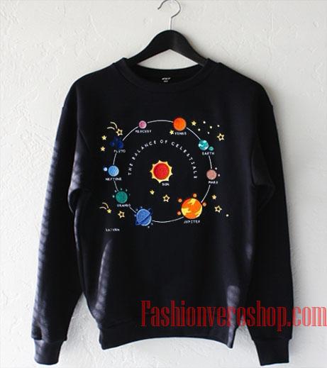 Planets Solar Saturn Space Sweatshirt