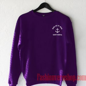Saint Barth Purple Color Sweatshirt
