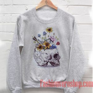 Skull With Flowers Sweatshirt