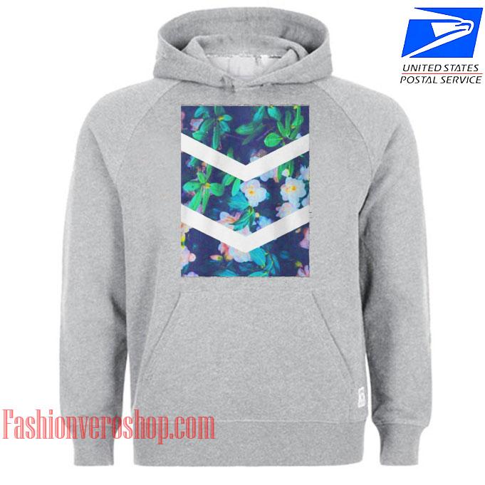 Tumblr Flower White Chevron Aesthetic HOODIE - Unisex Adult Clothing