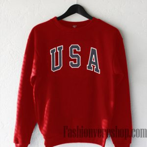 USA Red Sweatshirt