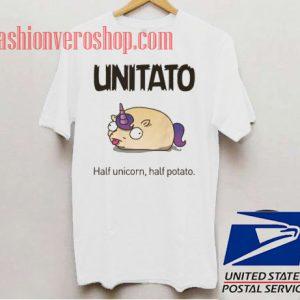 Unitato Half Unicorn Half Potato Unisex adult T shirt