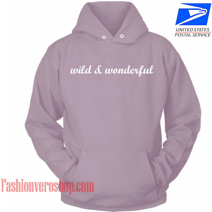 Wild And Wonderful Mauve Color HOODIE - Unisex Adult Clothing