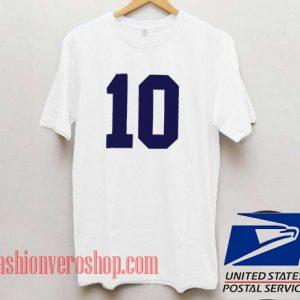10 Unisex adult T shirt