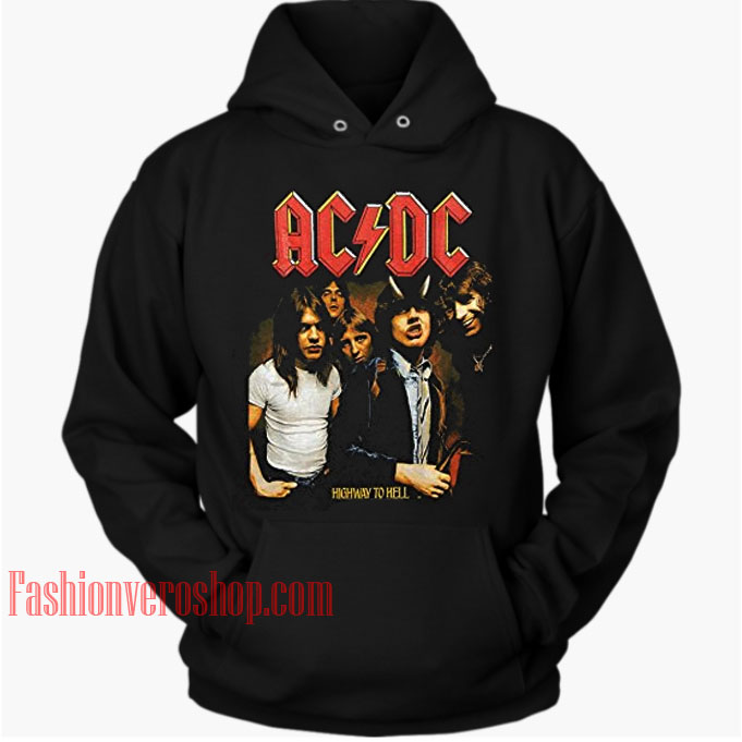 ACDC Highway To Hell HOODIE Unisex Adult Clothing
