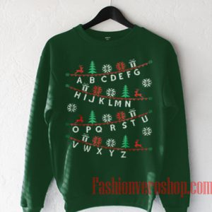 Alphabet Christmas Sweatshirt