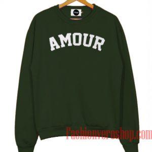 Amour Dark Green Sweatshirt