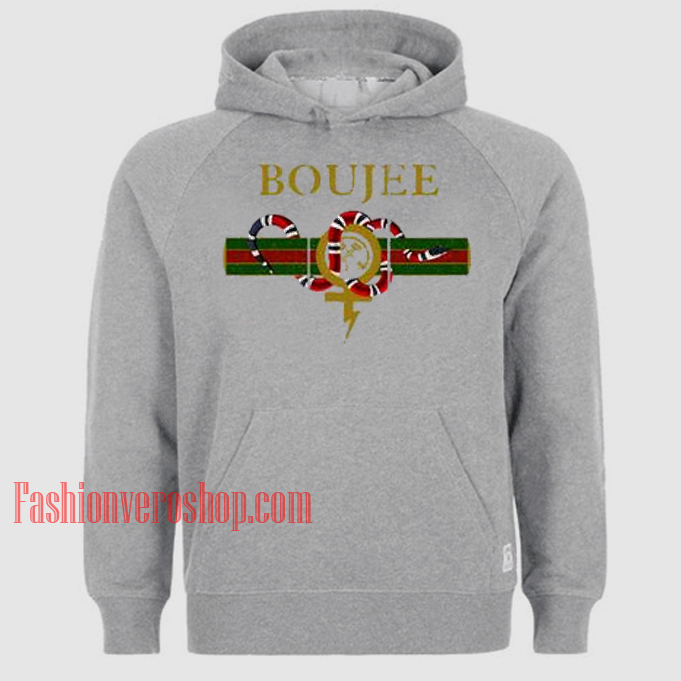 Boujee Grey HOODIE - Unisex Adult Clothing