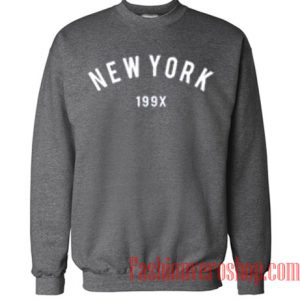 New York 199X Dark Grey Sweatshirt