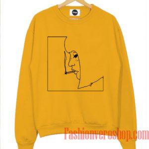 Outline Girl Smoking Sweatshirt