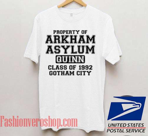 Property Of Arkham Asylum Unisex adult T shirt