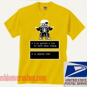 Skeleton Sans Puns Undertale Unisex adult T shirt