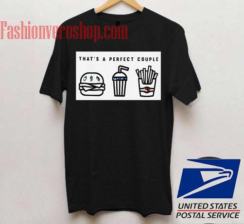 Thats Perfect Couple Black Unisex adult T shirt