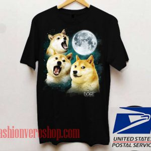 Three Doge Moon Unisex adult T shirt