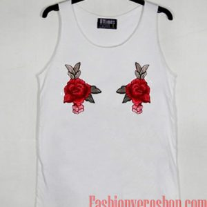 Twin Red Rose Tank top