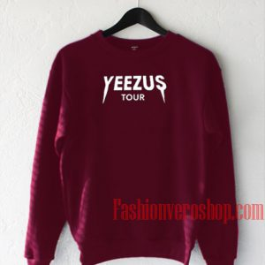 Yeezus Tour Burgundy Sweatshirt