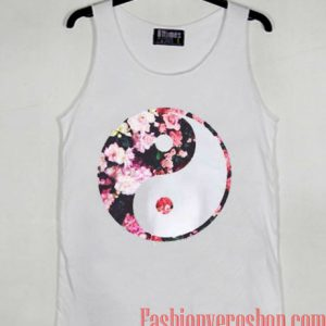Yin Yang Flower Tank top