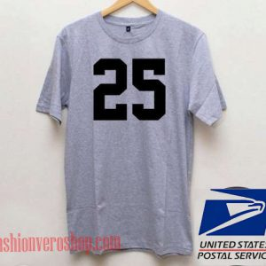 25 Number Unisex adult T shirt