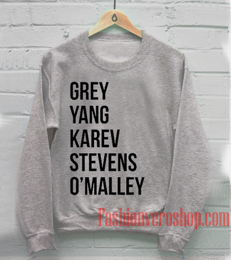 Grey Yang Karev Stevens O'malley Sweatshirt