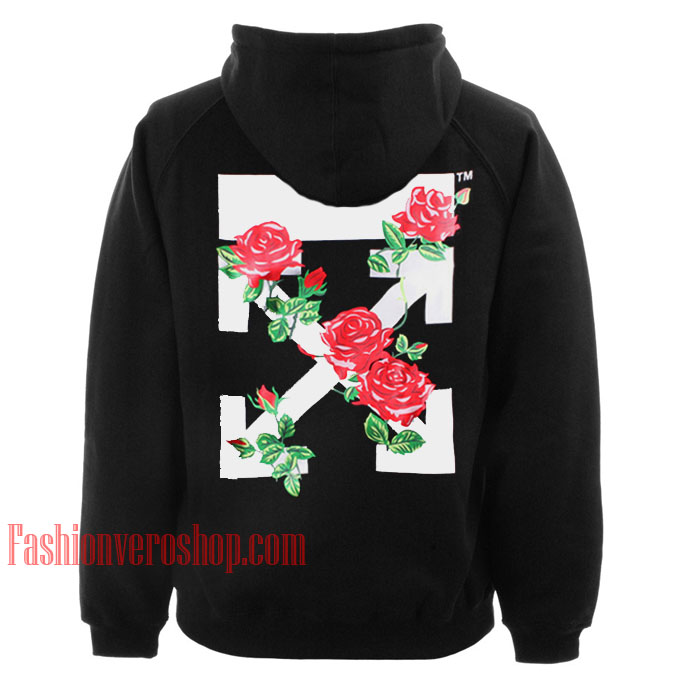 Rose Fashion Store Home: OFF WHITE Roses HOODIE