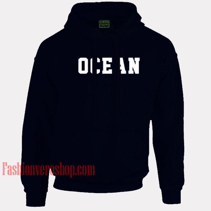 Ocean Navy Blue HOODIE - Unisex Adult Clothing
